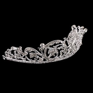Wedding Bridal Crystal Rhinestone Flower Vine Pattern Crown Tiara Headband