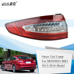 ZUK AUTO CAR الخارجي الذيل مصباح الذيل ضوء عاصي لفورد فيوجن MONDEO MK5 الزئبق الغموض 2013 2014 2015 2016 إيقاف الضوء LED