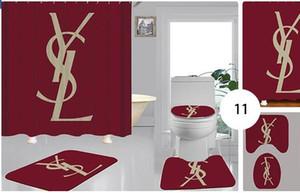 poliéster de luxo vendendo novo papel higiénico digitais terno multi-função de banho impermeável cortina de chuveiro cortina no local atacado 114