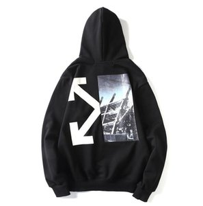ssss European and American fashion tide brand ow sweater coat loose hoodie fleece printing couples 2019 new