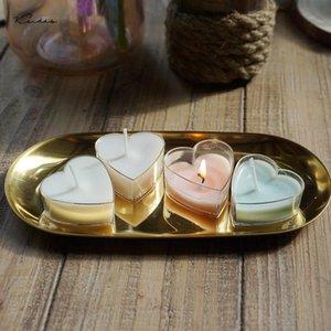 15 جهاز كمبيوتر شخصى من البلاستيك الشفاف الخصم الاقمشه بيركلي شمعة الكؤوس / الحب القلب شمعة قالب الشمع حاويات لحضور حفل زفاف