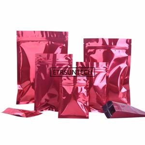 Различные размеры Tear Notch Алюминиевая фольга мешок Тепло Герметизация хранения сумки Плоский Красный алюминиевая фольга мешок LX1046