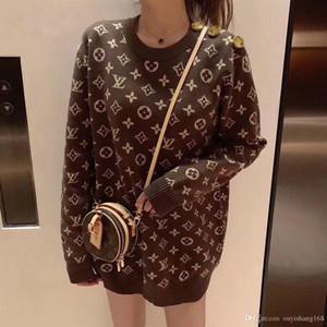 kadın yeni sonbahar ve kış dışarıda aşınma alt aynı örme ceket gevşek küçük kokulu wi üst giysi web ünlü çizgisiz Süveter