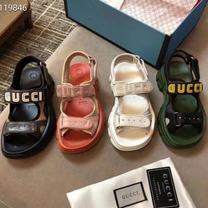 Las sandalias de diseñador flip flip flops de los hombres de 2019 moda diseñador de lujo marca hombres y mujeres verano zapatillas tamaño 35-45 1103