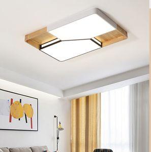Современные светодиодные люстры для гостиной белый металл люстры деревянные подвесные люстры прямоугольник спальня светильники LLFA