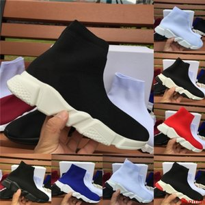 Top Quality Speed Trainer fashion men women designer sneakers black white blue mens trainers casual Sock shoes Runner Size 5-11