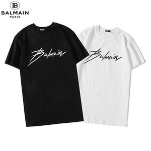 mer TopManica corta T-shirt da uomo Balmain Alfabetico cotone stampato con scollo a V T-shirt Abbigliamento hhtgtt 35E16 #