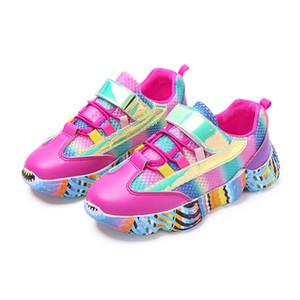 Ulknn Meninas Sneakers Para Crianças Sapatos Casuais Sapatos Casuais Meninos Sapatilhas Meninas Esporte Formadores Correndo Calçado Escola Moda Y19061906