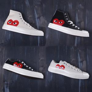 Nuevos 1970 zapatos clásicos de la lona del patín 1970 zapatos de lona conjuntamente nombre de juego del corazón monopatín Ojos grandes zapatillas de deporte casuales zapatos para correr
