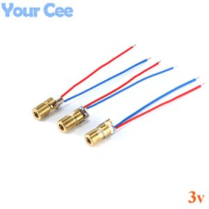 Cheap Diodes 10pcs 650nm 6 milímetros 3V 5mW Laser Dot Diode Module Red cabeça de cobre Diodes