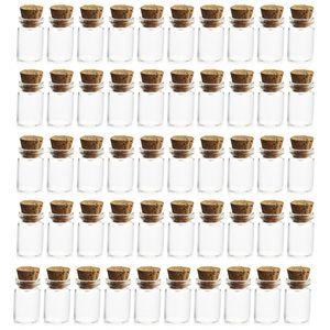 50Pcs 100pcs 500pcs 1000pcs 11*22MM 1ML Mini Glass Bottles Empty Sample Mini Glass Jars With Lid Cork For DIY Craft Decoration