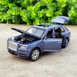 Räder 1.32 Rolls Royce Cullinan Diecast Spielzeug Fahrzeugmodelle aus Metall Auto-Modell-Miniautos verfolgen Geburtstags-Geschenke für Junge Kinder Y200109