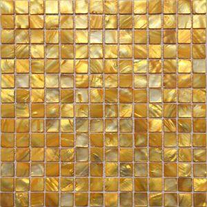Morrer Mãe de azulejos pérola backsplash MOP19028 shell ouro amarelo banheiro mosaico azulejo da parede