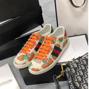 2020 Luxury Designer Men Women Sneaker Casual Shoes Low Top Italy Ace Bee Star Stripes Shoe Walking Sports Trainers no box