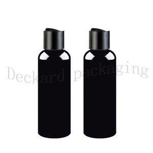 200ml Bouteille vide 50pcs Ambre en plastique noir avec disque Cap 200cc Noir PET récipient cosmétique grande bouteille Ambre