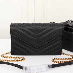 Diseñador Bolsos de lujo Monograma Mujer Monedero Monedero de cuero genuino Bolsas de hombro Cadena larga Caviar Caviar Sobre Bolso Bolsa de embrague de alta calidad