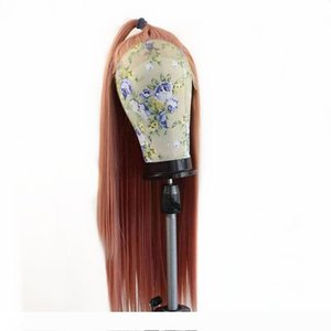 Rose Pink Straight Synthetic 13*3 Inch Lace Front Wig Natural Hairline Heat Resistant Fiber Hair For Girls Women Wigs