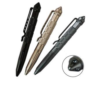 Личная безопасность Тактический карандаш Карандаш для самообороны Многоцелевой авиационный алюминиевый противоскольжения Портативный инструмент для самообороны
