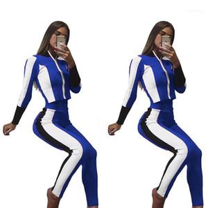 Pantolon Giyim Pantalones Casual Suit Kadınlar eşofman Sonbahar Sports 2adet Tops Fall ayarlar