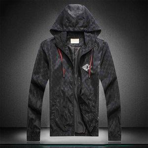 Diseño de moda con capucha para hombre chaqueta de ropa Mapa militar Chaquetas reflectantes con capucha con capucha Chaquetas de lujo con capucha con capucha con capucha Noctilucent Tamaño M-XXX