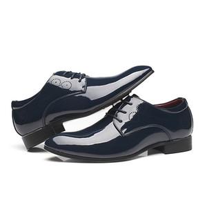 Baoluma Uomo Oxford Scarpe da uomo a punta scarpe da uomo d'affari scarpe da lavoro oxford in pelle scarpe formali per uomo