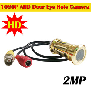 2MP 1080P Fisheye Mini AHD Camera Eye Golden Door Peephole Indoor Home Security AHD Mini Camera para Ahd DVR Sistema