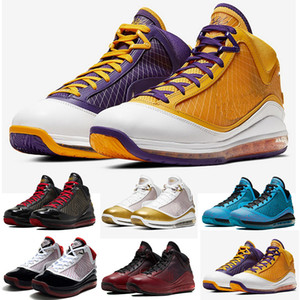 رجل ليبرون 7 فيرفاكس اسكواش الأحمر الأحذية النسائية لكرة السلة 7S جديدة ولدت ملك equalit سنة ضوئية رجل مصمم أحذية رياضية المدربين الرياضة 40-46