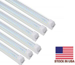 Cnsunway 4ft LED Mağaza Işıklar V şekli T8 Entegre Tüp Işık Armatür 5000K Günışığı 3360LM 28W LED Tüp Işık Yedek Linkable ABD Stok