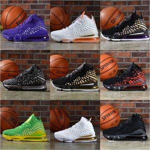 Livraison gratuite Top qualité Oregon Ducks Que Chaussures de basket-ball Hommes Vert lebrones 17 XVII Chaussures Sneaker