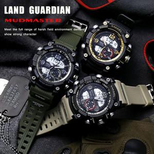 2020 SMAEL Sport Herren Armbanduhr LED Digitaluhr wasserdichte Doppelzeit-Armbanduhr Military Watch 1617 Herrenuhren orologi da uomo