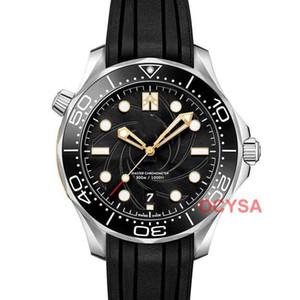 Lujo de la manera de goma para hombre de la banda de mar mecánico automático de los hombres del movimiento maestro Tag diseñador los relojes del reloj Relojes hombre Montre de luxe