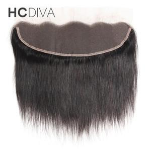 HD Dentelle Frontale Fermeture 13 * 4 Brésilienne Droite Vague de Corps Crépus Bouclée Vagues Profondes 130% Densité Naturel Noir 100% Véritable Cheveux Humains Top Qualité