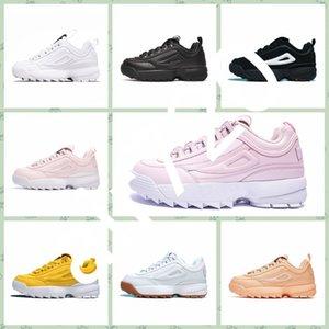 FILA Disruptor 2 2019 Disruptores 2 Sawtooth Branco Triplo preto ARQUIVO Designer de plataforma de esportes mens branco rosa roxo tênis casual Trainer Chaussure
