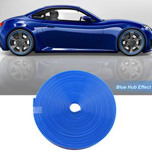 8 Mt Auto Radnabe Felge Kantenschutz Ring Reifen Streifenschutz Gummi Aufkleber Blau
