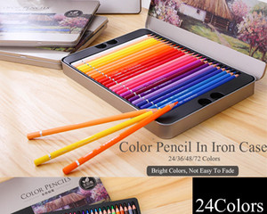 Colored Pencil Painting Pens Wood Graffiti Iron Box 36 48 72 Colors Fill Pen Advanced Colored Lead Painting Sketch School Supplies
