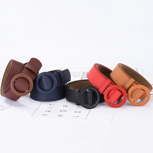 Soft Solid Belts Belts & Accessories Fashion Color Womens Belts for Trendy Round Hole Female Leather Buckle Strap Designer Jeans Pants for G