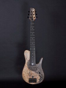 Super Rare FOD Buckeye Burl Yin Yang Imperial 6 Elite Electric Bass Guitar Neck Thrugh Body, Ash Body, Maple Neck, Black Hardware