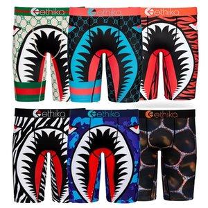 2020 Nova Ethika Boxers Men Underwear tubarão Boca Boxer Men Underwear Homme Todos os dias Boxers resistentes Arrefecer Sports Curto Pants7bdB #