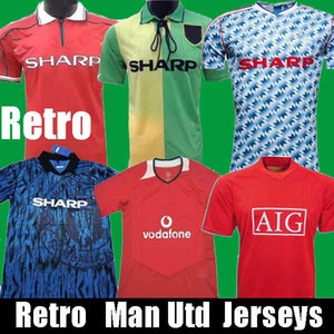 Retro 1998 1999 90 92 92 United 93 94 maillots de football Accueil 1999 2000 1994 TOP QUALITY Manchester extérieur 1999 2002 2006 Chemises de football 98 99
