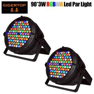 Gigertop 2 Einheiten 90x3w New Design Große wasserdichte LED-Reflektorlampe RGBWA 5 Farbe glatt LED-Wall Washer Stadt Farbe Farbliche Beleuchtung