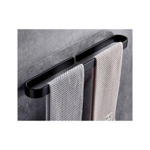 Raum Aluminium Schwarz Badezimmer Anhänger Handtuchhalter Punch Handtuchring Ring Handtuch Hanger Wandhalterung