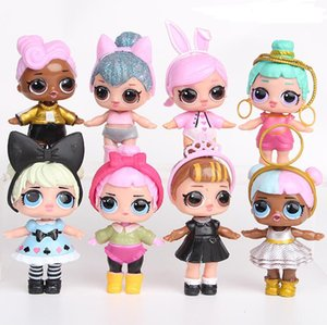 9CM LoL Dolls with American PVC Kawaii Children Toys Anime Action Figures Realistic Reborn Dolls for girls 8Pcs lot kids toys