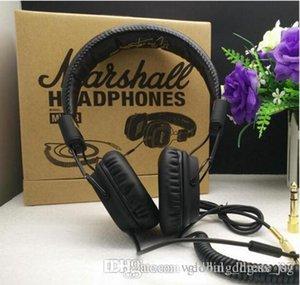 Marshall 1 Major headphones With Mic Deep Bass DJ Hi-Fi Headphone 3.55MM wired headset fashion headset car 001