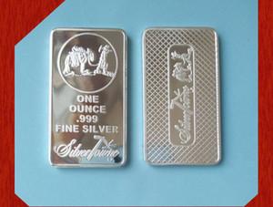 1 ons Bar Gümüş Ons Tarafından Troy SilverTowne Külçe Gümüş Kaplama Pirinç Çekirdek Bar olmayan magentic gümüş bar