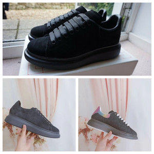 Black Platform Shoes Velvet Style Chaussures Shoe Great Quality Sneakers Beautiful Casual Shoes With Box