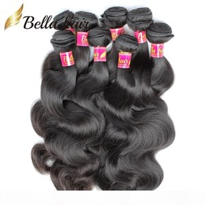 Bella Hair? 8A 10pcs Body Wave Bundles 8-30inch Unprocessed Brazilian Virgin Human Hair Extension Weaves Natural Color Free Shipping