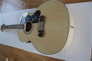 free shipping custom 43 inch acoustic electric guitar,wooden guitar,hollow 200 guitar,maple body,maple neck,golden hardware, can add 101 EQ
