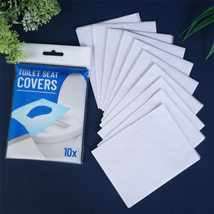 soluble water disposable toilet seat cushion paper 10 slice pack portable toilet pad paper Disposable toilet seat paper T9I00340