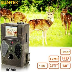 HC 300M Jagd-Spiel-Kamera MMS Fotofalle HD Scouting Infrarot Outdoor-Jagd-Hintervideokamera schwarz IR-Nachtsichtkamera