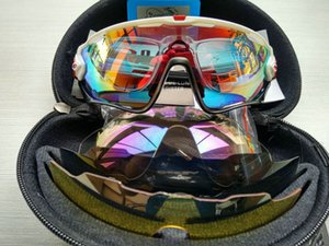 2020 heiße Qualitäts-Art- und 16 Farben-4 der Objektiv-Sport-Sonnenbrille polarisieren Frauen Männer Austauschbare Jawbreaker Radfahren Brillen geben Schiff frei